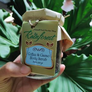 Coffee and cacao body scrub